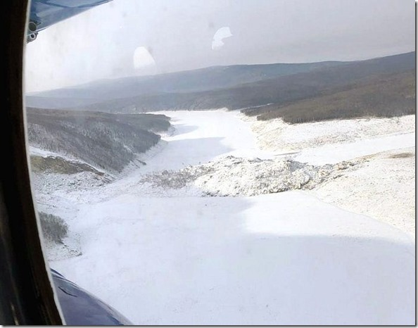 Landslide -view from helicopter