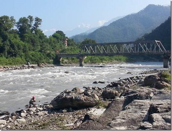 Budhi-Gandaki river in Arughat