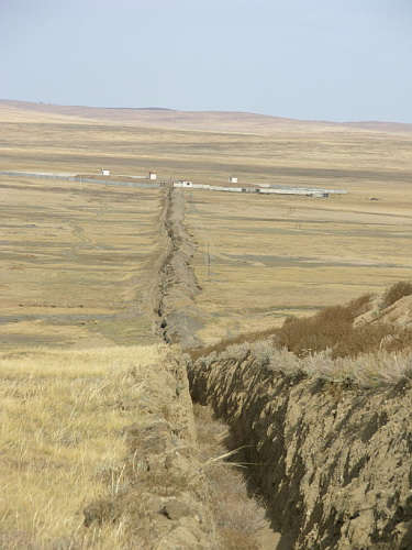 Abandoned mining camp
